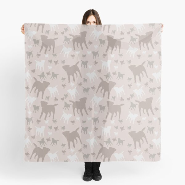 Border Terrier Gifts for Dog Lovers Blush, Nude Silhouette Scarf