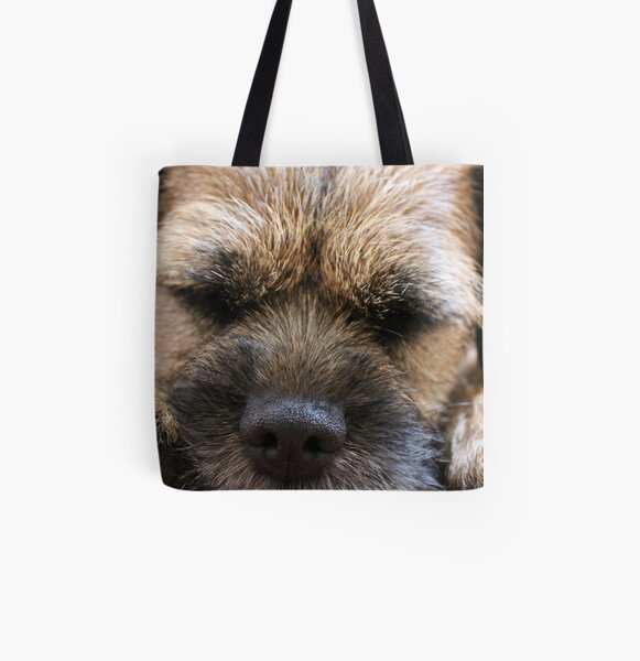 Border Terrier Gifts for Dog Lovers Whiskers & Paws All Over Print Tote Bag