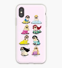 Vinilo o funda para iPhone Princesas Pug