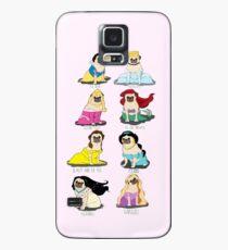 Mops Prinzessinnen Hülle & Klebefolie für Samsung Galaxy