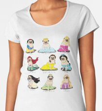 Pug Princesses Women's Premium T-Shirt