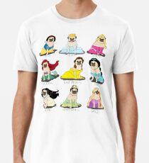 Camiseta premium para hombre Princesas Pug