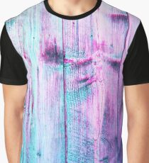 Aesthetic Pastel Wood Texture Design Graphic T-Shirt