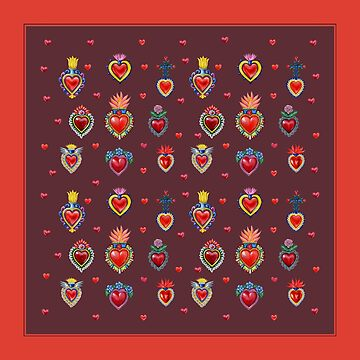Mexican Sacred Hearts by Colette-vd-Wal