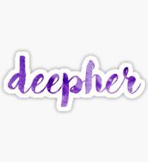 Deepher sticker Sticker