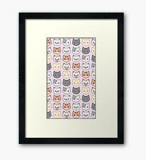 Kitty Wallpaper - Pink Framed Print