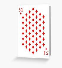 51 Diamonds Greeting Card