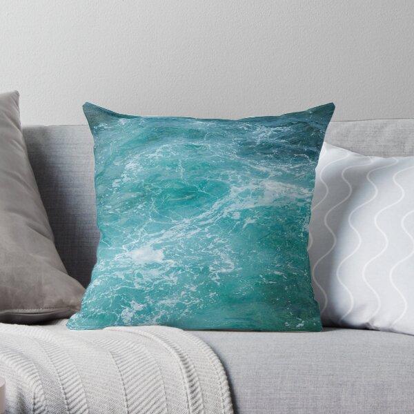 Jade Sea Throw Pillow