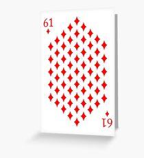 61 of Diamonds Playing Card Greeting Card