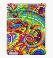 Psychedelizard Psychedelic Chameleon Colorful Rainbow Lizard iPad Case/Skin