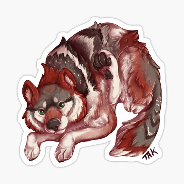 Mexican Gray Wolf - Bouncing Wolf Sticker