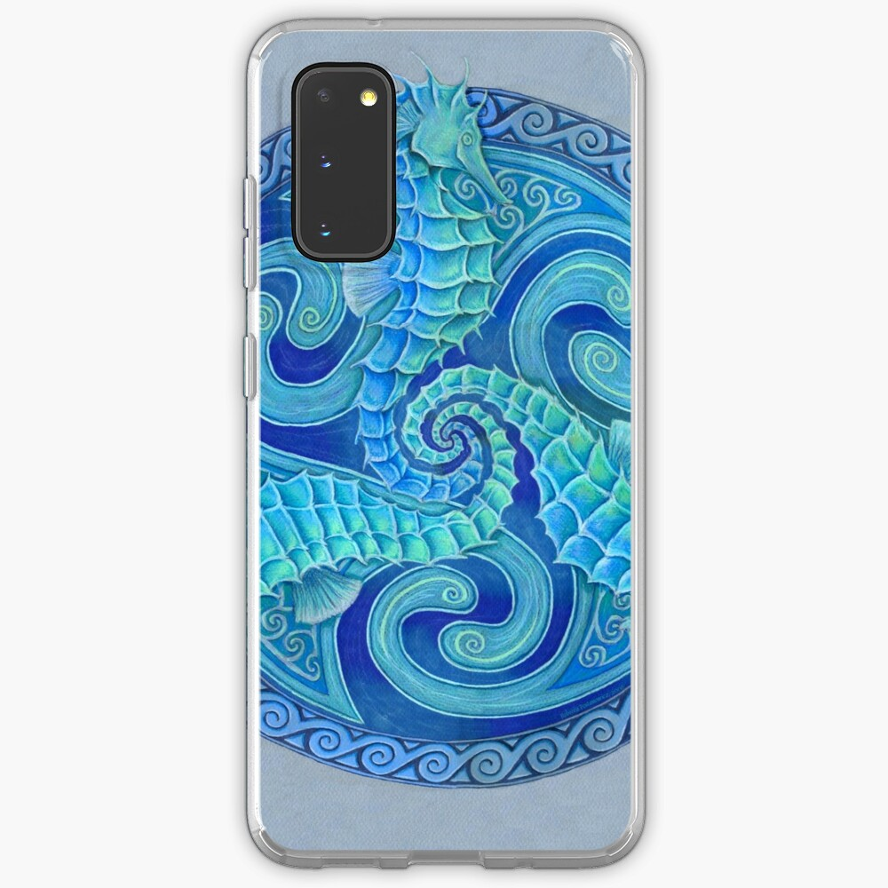Seahorse Triskele Blue Celtic Mandala Case & Skin for Samsung Galaxy