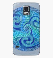 Seahorse Triskele Blue Celtic Mandala Case/Skin for Samsung Galaxy