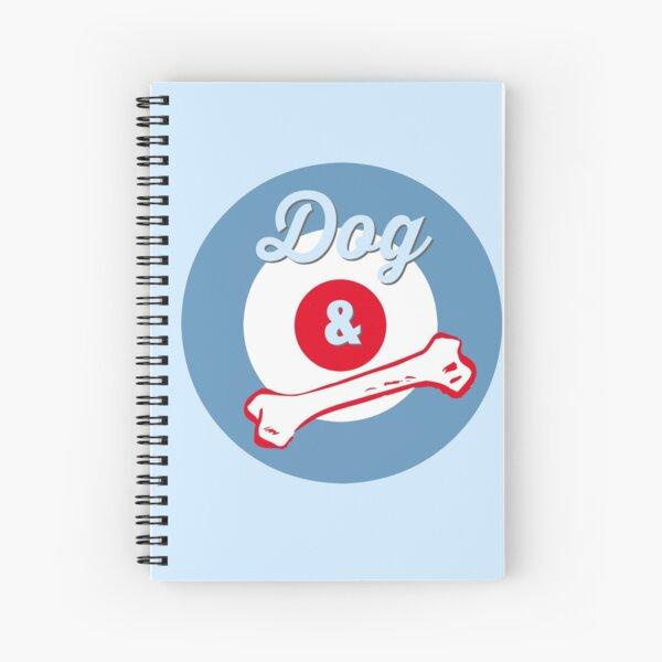 Dog & Bone Cockney Rhyming Slang Slogan Gifts for Dog Lovers Spiral Notebook