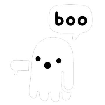 Boo  - Cute Ghost by ColioMango