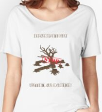 Stop Uprooting Our Existence 1# Women's Relaxed Fit T-Shirt