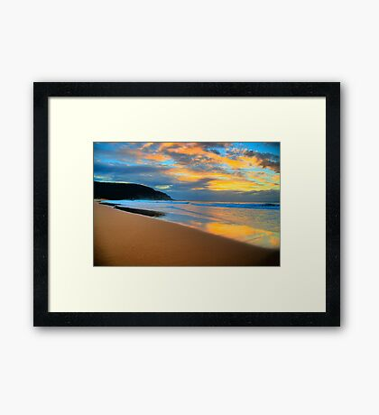 Reflections of Day - Palm Beach - Sydney Beaches - The HDR Series Framed Print