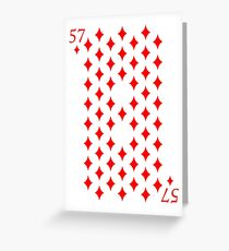 57 Diamonds Poker Magic Playing Card Greeting Card