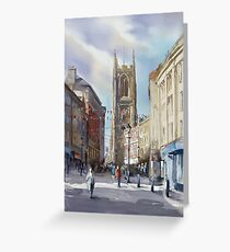 The Cathedral Quarter, Derby. UK Greeting Card