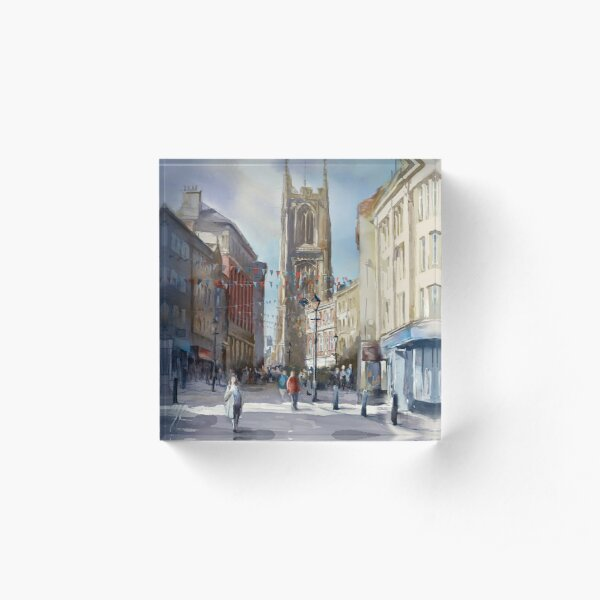 The Cathedral Quarter, Derby. UK Acrylic Block