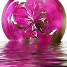Floating Glass Sphere by Squealia