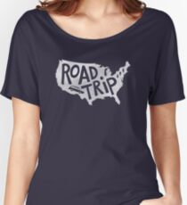 Road Trip USA - blue Women's Relaxed Fit T-Shirt