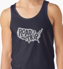 Road Trip USA - blue Tank Top