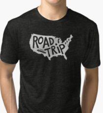 Road Trip USA - blue Tri-blend T-Shirt