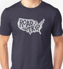 Road Trip USA - blue T-Shirt