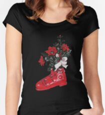 Christmas Ski Boot Women's Fitted Scoop T-Shirt