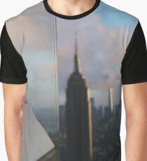 landscape in new york city and skyscrapers Graphic T-Shirt