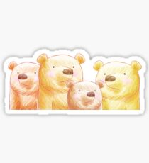 World of Bears - Grizzly Family Sticker