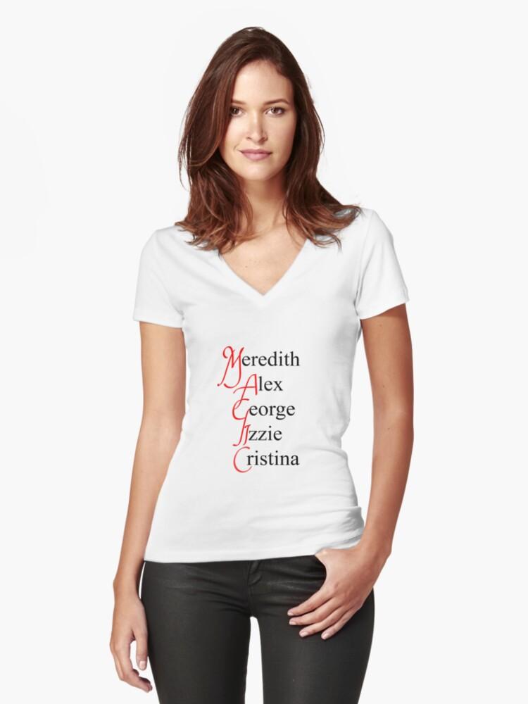 Camisetas de cuello en V entalladas para mujer «MAGIA - anatomía ...