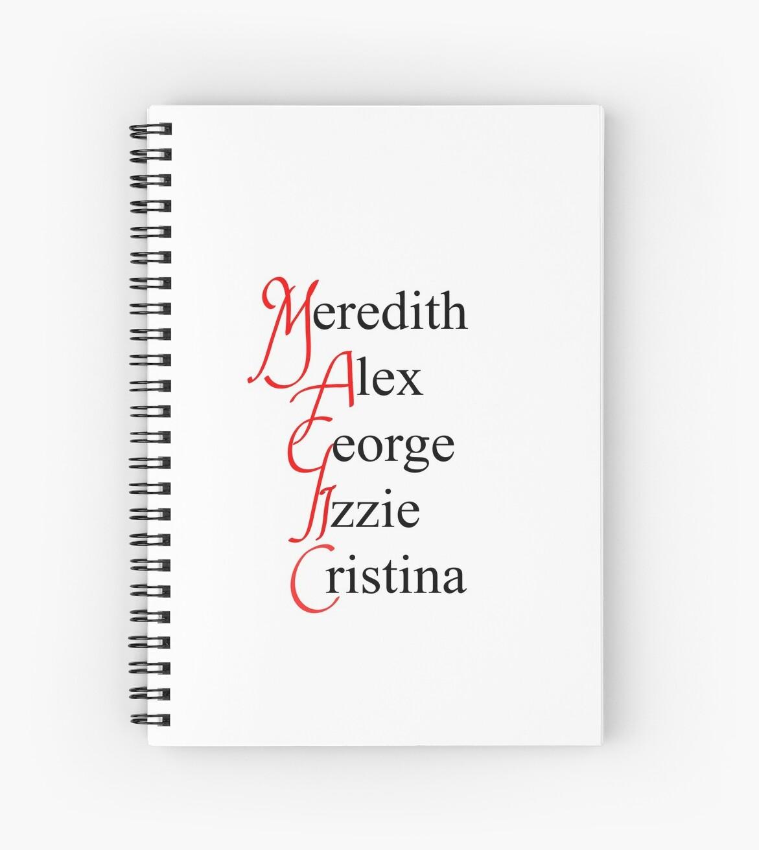 Cuadernos de espiral «MAGIA - anatomía grises» de thebyouzy | Redbubble