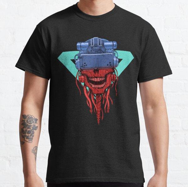 cyber punk skull Camiseta clásica
