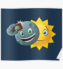Eclipse Selfie Poster