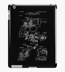Smith and Wesson Hammerless Pistol 1898 Patent iPad Case/Skin