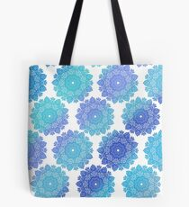 Blue mandalas pattern  Tote Bag