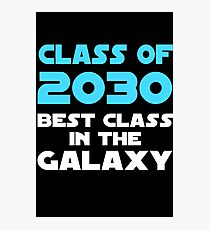 Class of 2030 Best Class in the Galaxy Kids Graduation Photographic Print