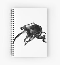 Inky Octopus Illustration Spiral Notebook
