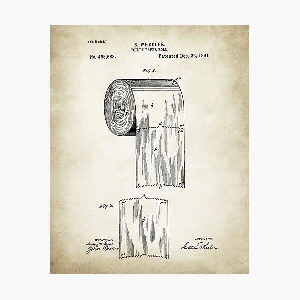 Toilet Paper Patent  Photographic Print