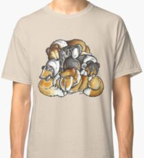 Rough Collie - sleeping pile cartoon Classic T-Shirt