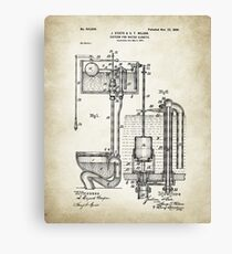 Toilet Cistern Patent Poster Canvas Print