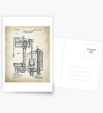 Toilet Cistern Patent Poster Postcards
