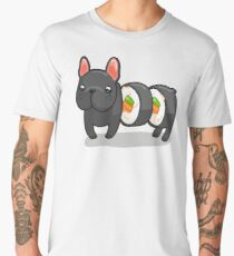 Dog sushi roll, the french bulldog Men's Premium T-Shirt