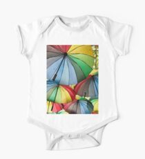 Colourful Umbrellas One Piece - Short Sleeve