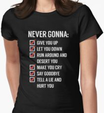 Rick Astley - Never gonna give you Up Women's Fitted T-Shirt