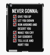 Rick Astley - Never gonna give you Up iPad Case/Skin