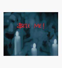 Bite Me! Red Photographic Print