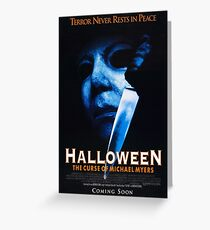 Halloween 6 Michael Myers  Greeting Card